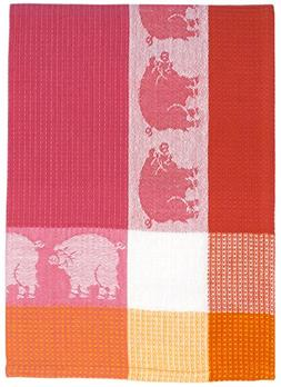 "Traders and Company 100% Cotton Pink Red & Orange 20""x28"" Di"