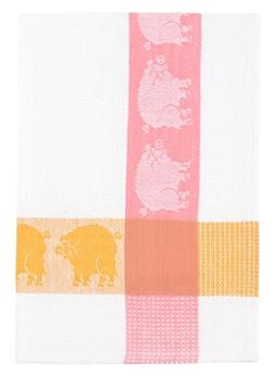 "100% Cotton Pink Yellow & White 20""x28"" Dish Towel, Set of 6"