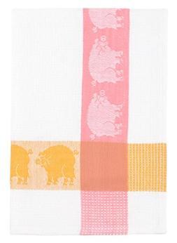 "100% Cotton Pink Yellow & White 20""x28"" Dish Towel, Set of 6"