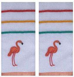 Celebrate Summer Together 2-Pack Embroidered Flamingo Cotton