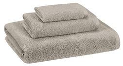 AmazonBasics Quick-Dry Towels - 100% Cotton, 3-Piece Set, Pl