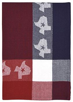 """100% Cotton Red Blue & White 20""""x28"""" Dish Towel, Set of 3 -"""