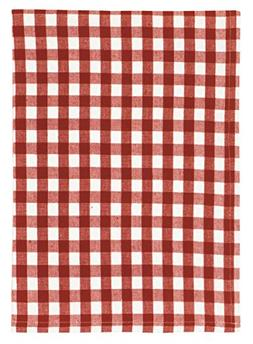 """100% Cotton Red & White Checked 20""""x28"""" Dish Towel, Set of 3"""