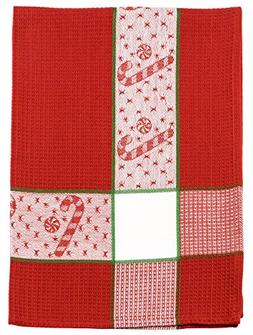 """100% Cotton Red White & Green 20""""x28"""" Dish Towel, Set of 3 -"""