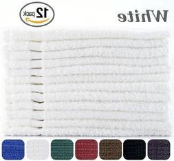 Cotton-Salon-Towels Gym-Towel Hand-Towel 12-Pack White -  10