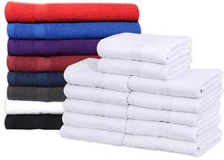 GOLD TEXTILES Cotton Salon Towels  - Soft Absorbent Quick Dr