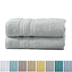 2-Pack Premium 100% Cotton Bath Towel Set  Multipack For Hom