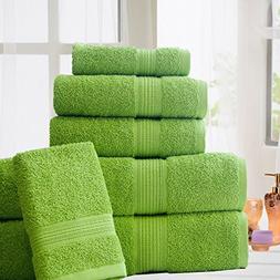 ELEGANCE SPA 100% Cotton Super Absorbent 6 Piece Towel Set,