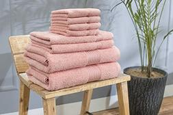 Swiss Republic 100% Cotton 8 Piece Towel Set ; 2 Bath Towels