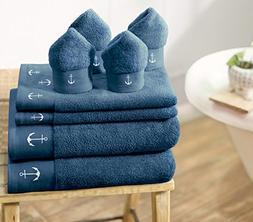 Swiss Republic 100% Cotton 8 Piece Towel Set ; 2 Bath Towels