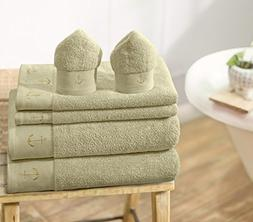 Swiss Republic 100% Cotton 6 Piece Towel Set ; 2 Bath Towels