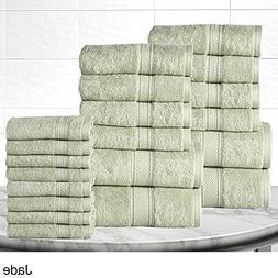 Cotton Towel Set 20-Piece 600 TC 100% Egyptian Cotton Bath &