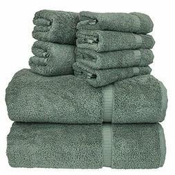 Linen 8-Piece Turkish Cotton Towel Set With 2 Bath, Towel 2,