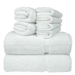 Chakir Turkish Linen 8-Piece Turkish Cotton Towel Set with 2
