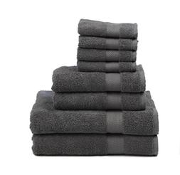 Premium 100% Cotton 8-Piece Towel Set  - Natural, Soft and U