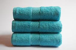 Laura's Secret Set Of 3 Pure Cotton Towels Hand Bath Bath Sh