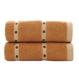 Zhenxinmei 2 Pack Cotton Towels Lover's Towel Set for Maximu