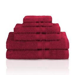 Superior 100% Premium Cotton Ultra Soft 6 Piece Towel Set, 2