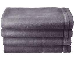 Creative Scents Cotton Velour Fingertip Towel, 4 Piece Set,