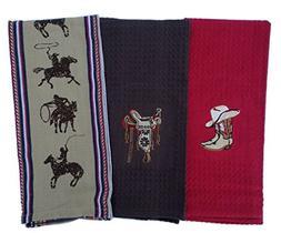 Kay Dee Cowboy Kitchen Towels Set of 3