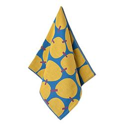 Set Of 3 Creative Yellow Pattern Cotton Towels Hand/ Face To