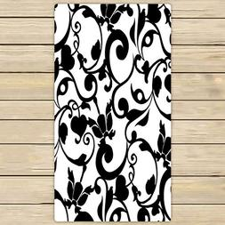 Custom Black and White Damask Pattern Classic Vintage French