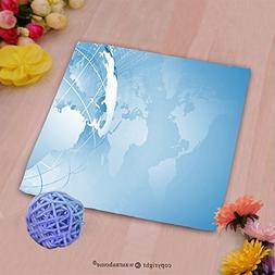 VROSELV Custom Cotton Microfiber Ultra Soft Hand Towel-blue
