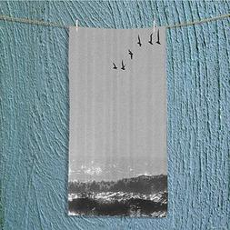 Custom Cotton Microfiber Ultra Soft Towels/Hand Towel,Silhou
