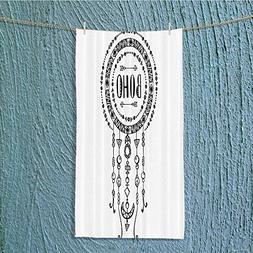 Custom Cotton Microfiber Ultra Soft Towels/Hand Towel,Boho F