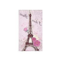 Custom Eiffel Tower I Love Paris French Style Pink Rose Flow