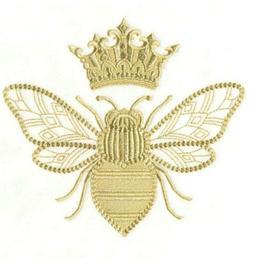CUSTOM EMBROIDERED QUEEN BEE GOLD HAND TOWEL SET