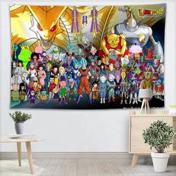 Custom <font><b>Dragon</b></font> Ball Super Tapestry Sheets
