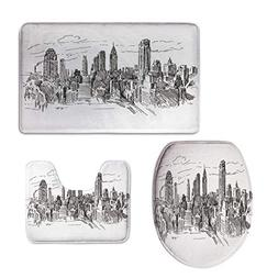 iPrint Custom Made,New York,Hand Drawn NYC Cityscape Tourism
