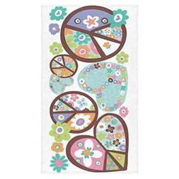 Custom Peace Sign Hand Towel Bath Bathroom Shower Towels 16x