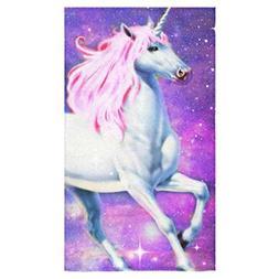 "Custom Unicorn Hand Towel Bath Bathroom Shower Towels 16""x28"