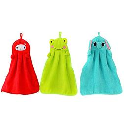 A Little Lemon 3pcs Cute Animal Microfiber Kids Children Car