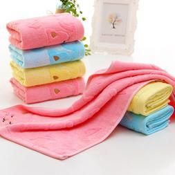 Cute Cartoon Bath Towels Baby Kids Children Washcloth Face H