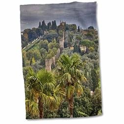 3dRose Italy, Florence, The Old Wall of The City Towel,