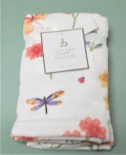 Deborah Connolly Spring Set of 2 Hand White Towels Printed F