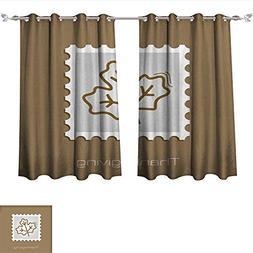 aolankaili Decorative Curtains for Living Room Autumn Leaves
