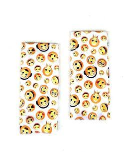 Decorative Kitchen Dishcloth Hand Towels Emoji Print 15 x 25