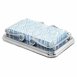mDesign Decorative Metal Guest Hand Towel Storage Tray Dispe