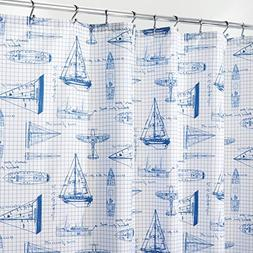mDesign Decorative Sketched Sailboat Print, Easy Care Fabric