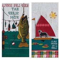 Kay Dee Designs Lake House Terry Towel Set of 2 - Fishing, B