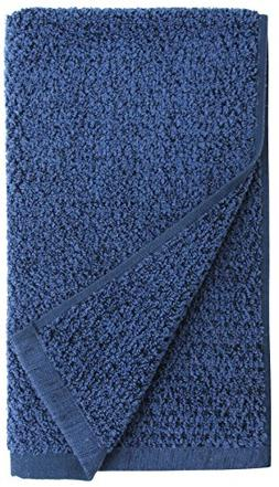 Everplush Diamond Jacquard Quick Dry Hand Towel Set in Navy