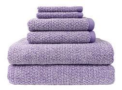 Everplush Diamond Jacquard Bath Towel 6 Piece Value Pack in