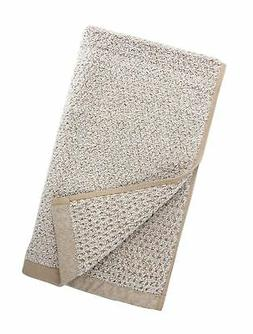 "Everplush Diamond Jacquard Hand Towel Set, 16"" x 30"", Brown,"