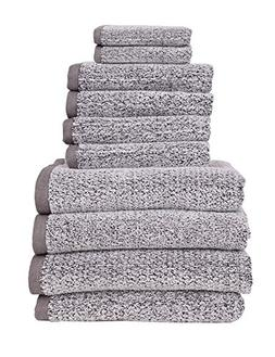 Everplush Diamond Jacquard, Bath Towel Set of 10, 4 Bath Tow