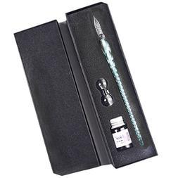 Dip Pen Set Eco-Home Glass Dip Pen Handmade Glass Signature