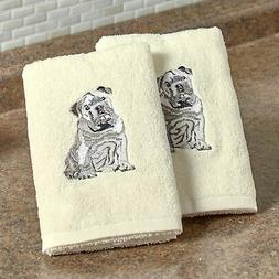 The Lakeside Collection Set of 2 Dog Breed Hand Towels- Bull